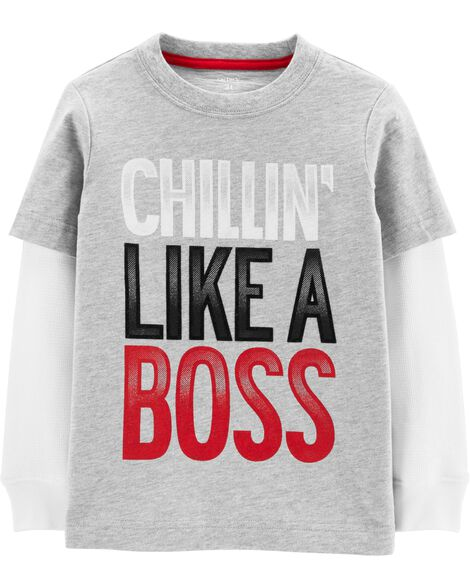 Chill'n Like A Boss Layered-Look Tee