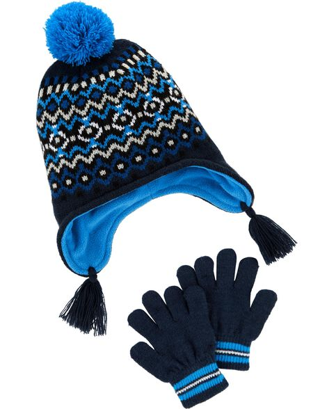f6c8ae5b1b0 Fair Isle Hat   Glove Set