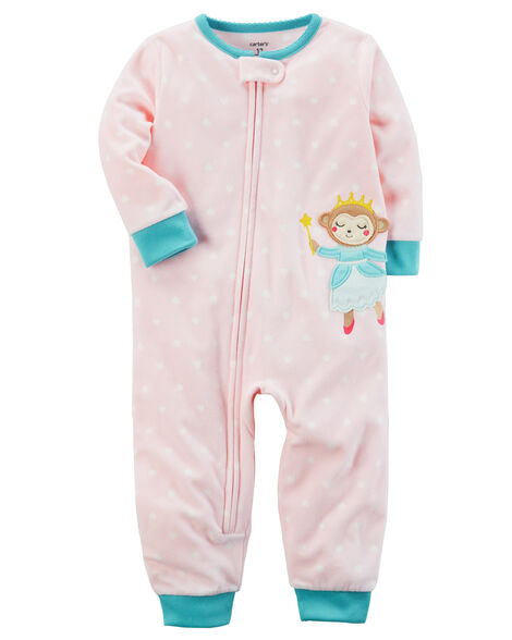 f09be6a11 Images. 1-Piece Monkey Footless Fleece PJs. Loading zoom