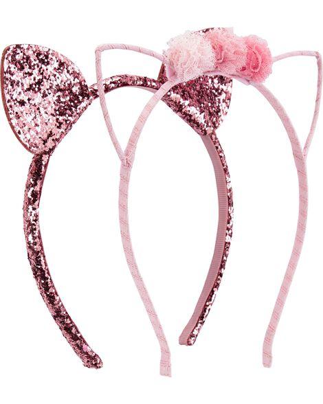 2-Pack Cat Ears Headbands