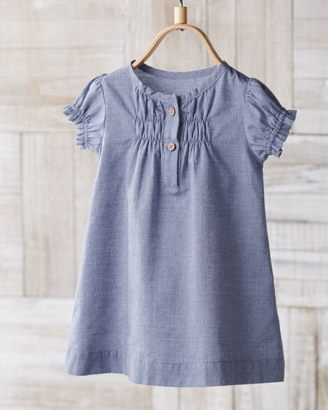Certified Organic Chambray Dress