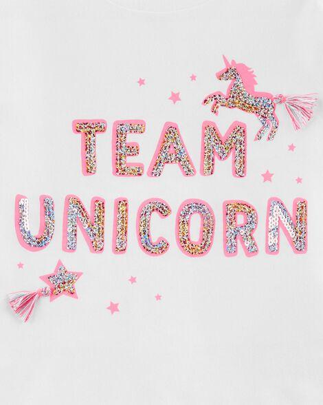 Sequin Unicorn Hi-Lo Tee