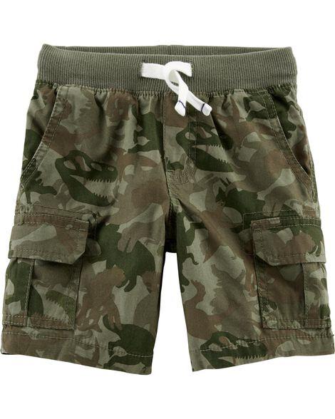 Camo Pull-On Cargo Shorts