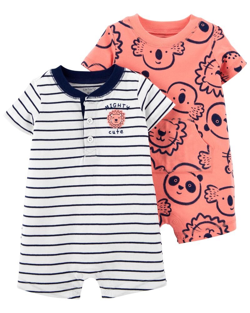 Carters Baby Boys 2-Pack Snap-up Romper