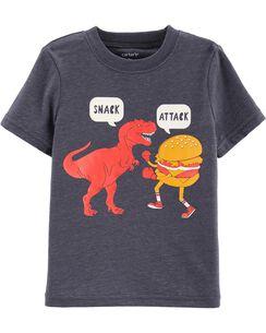 21539d6f1 Snack Attack Dinosaur Snow Yarn Tee