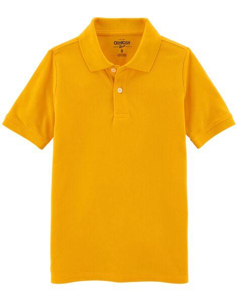 8e597765b Kid Boy Pique Uniform Polo | OshKosh.com