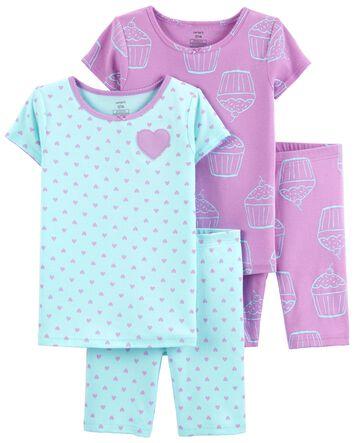 Carter/'s  2 Piece Fun in the Sun Pajama/'s Size 4T Girls NEW