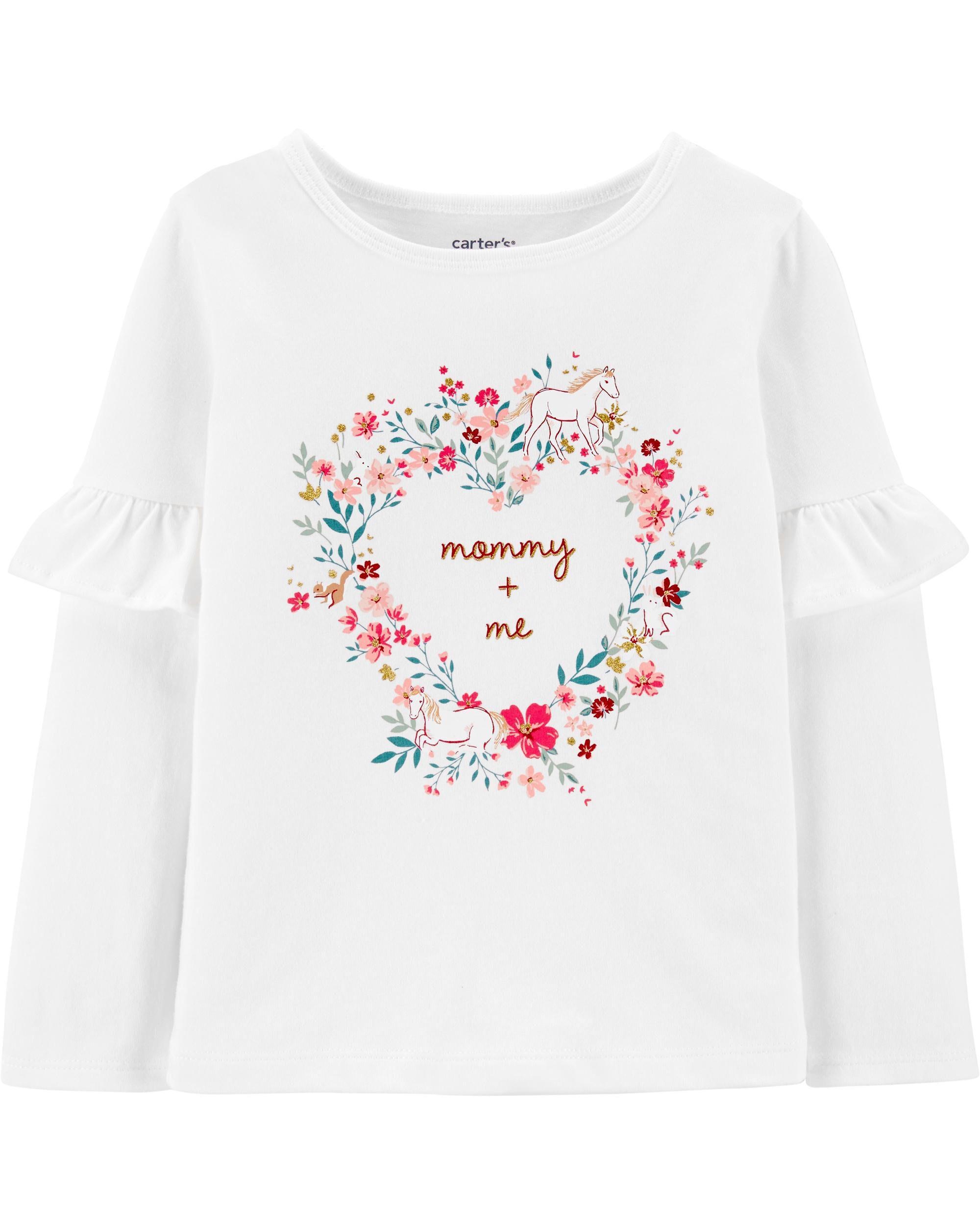 Carters Baby Girls Heart Jersey Tee