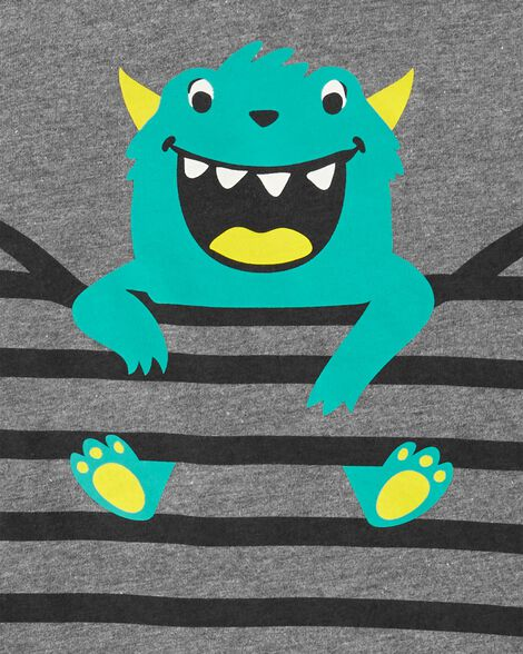 2-Piece Monster Tee & Poplin Short Set