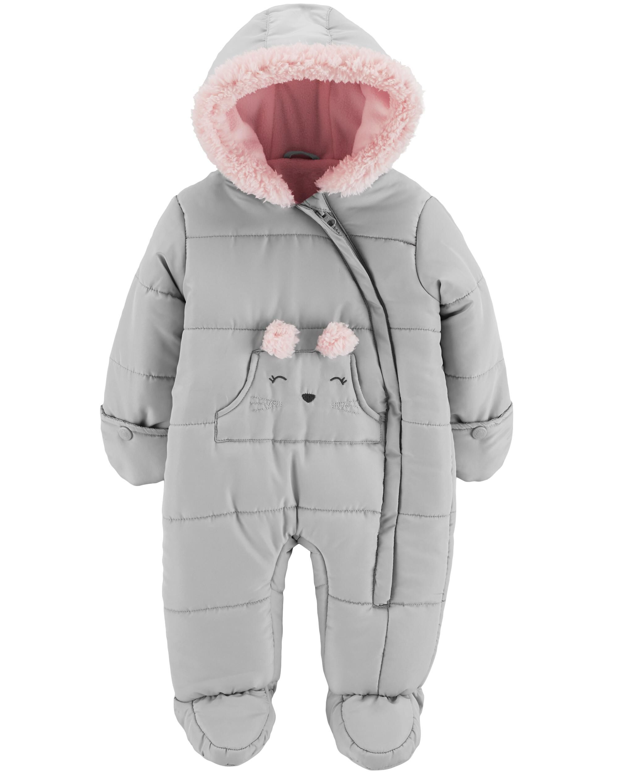 Girls' Clothing (newborn-5t) Baby & Toddler Clothing Reliable Age 3-6 Months Babies Snowsuit