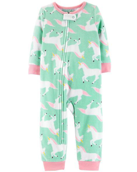 e59ea3d06fd7 1-Piece Unicorn Fleece Footless PJs