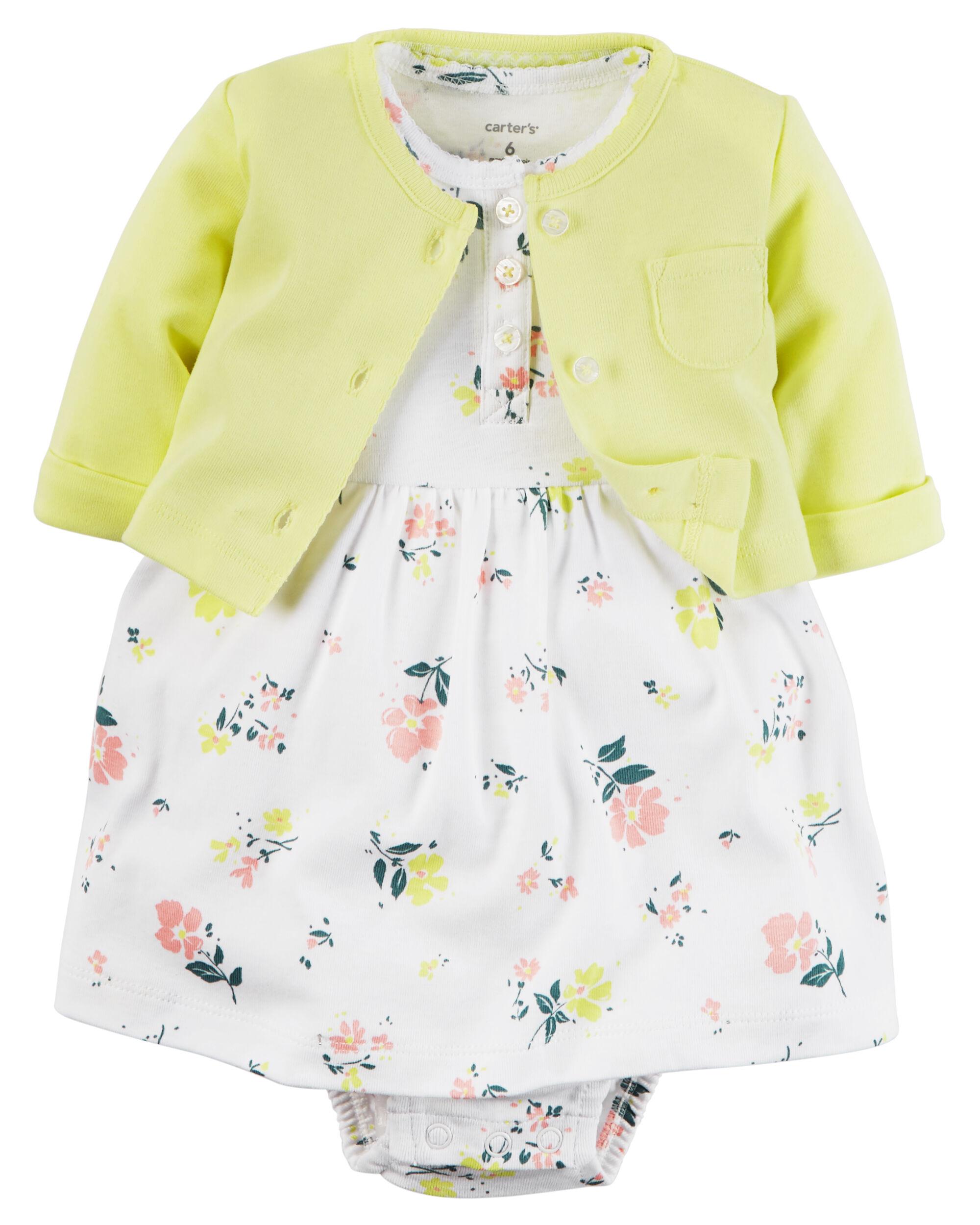 2-Piece Babysoft Bodysuit Dress u0026 Cardigan ...  sc 1 st  Carteru0027s & 2-Piece Babysoft Bodysuit Dress u0026 Cardigan Set | Carters.com