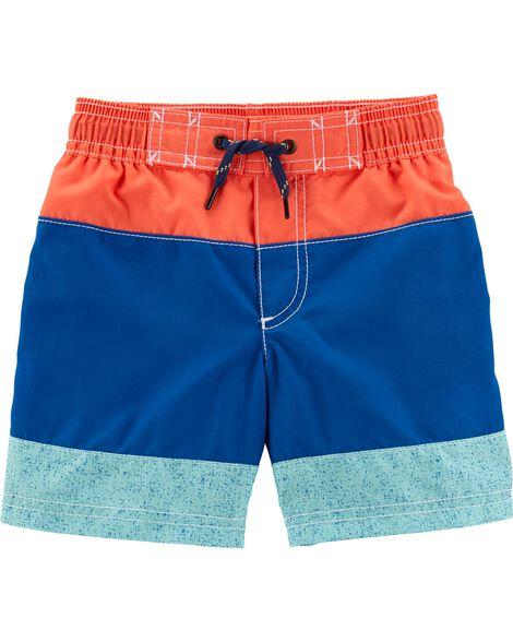 Carter's Colorblock Striped Swim Trunks