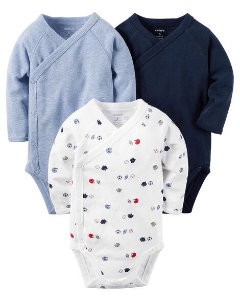 b7e4beb800 Images. 3-Pack Long-Sleeve Side-Snap Bodysuits