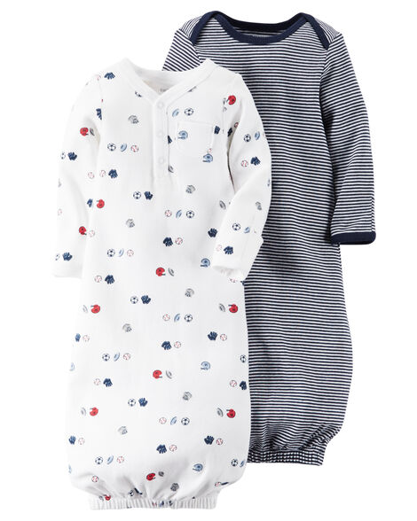 42677685d1b1 2-Pack Babysoft Sleeper Gowns