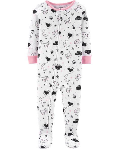 1-Piece Moon Snug Fit Cotton PJs