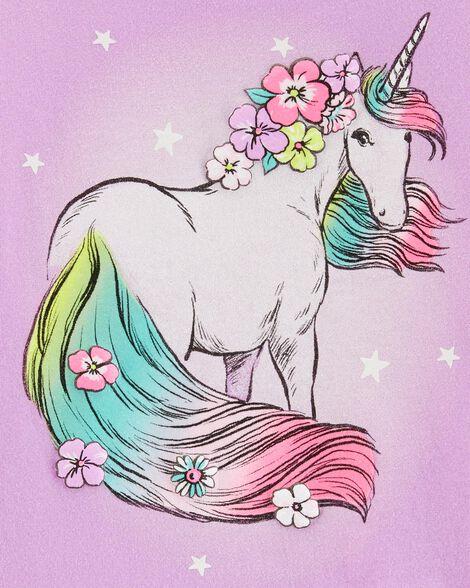 Glitter Unicorn Ruffle Tee