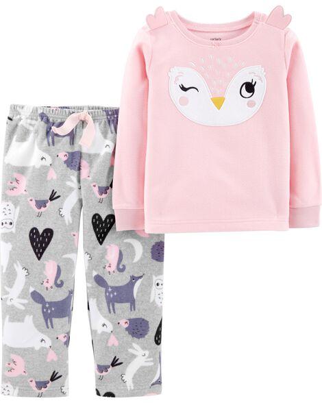 2-Piece Owl Fleece PJs