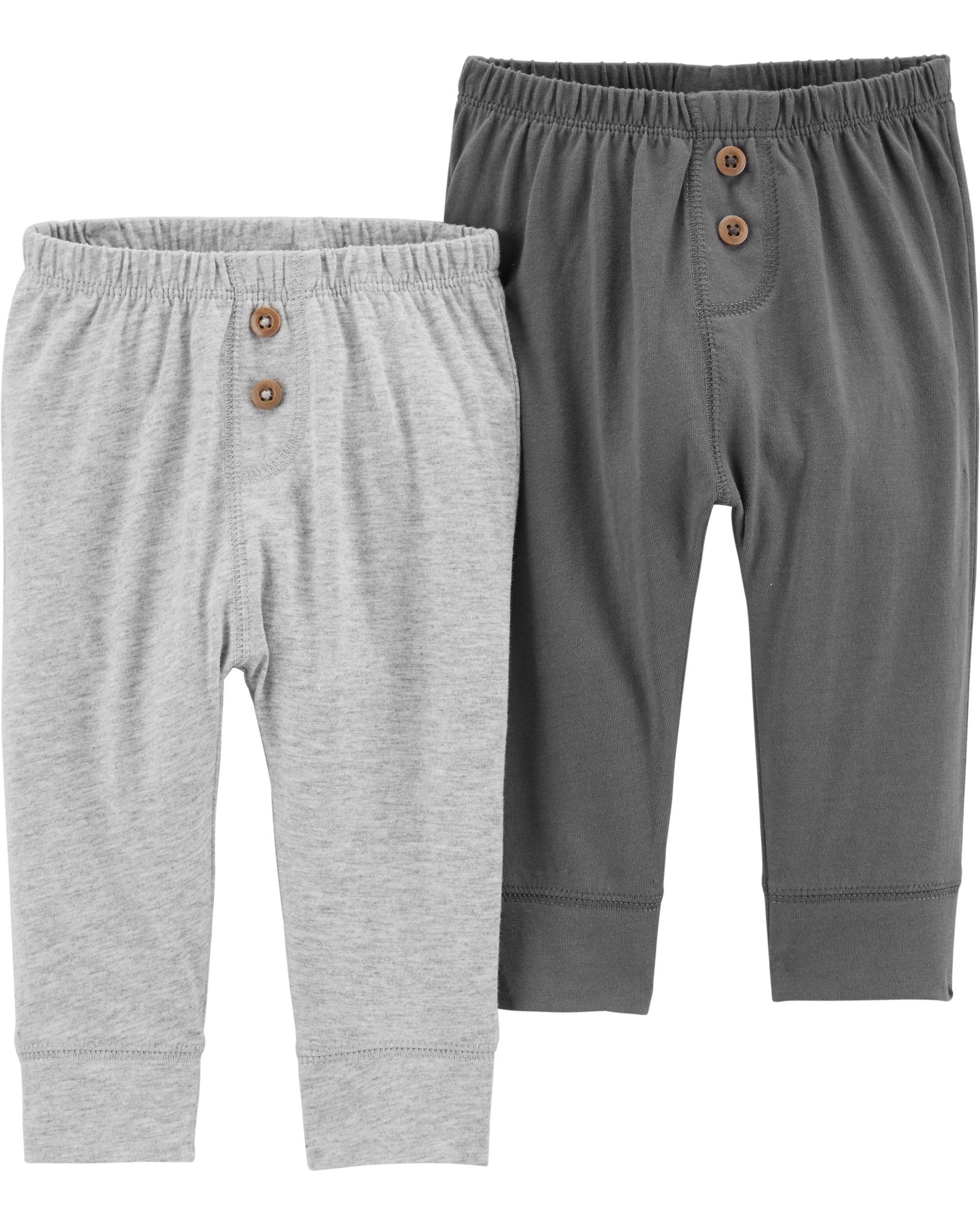 Carters Boys 2T-8 2 Pack Warm Fleece Active Pants