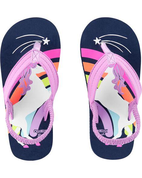 3d4b38e37f26 OshKosh Unicorn Flip Flops ...