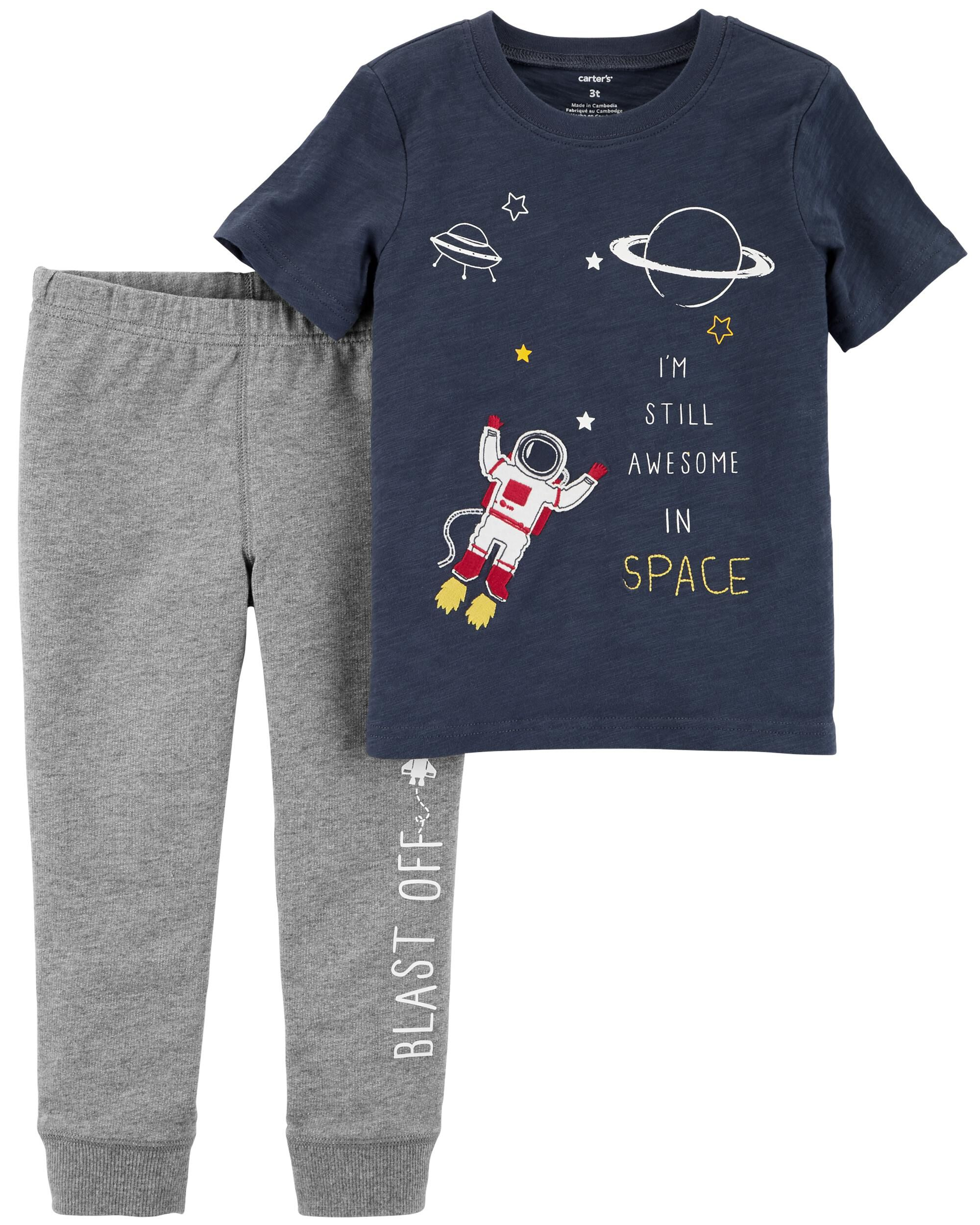 2-Piece Space Tee & French Terry Jogger Set