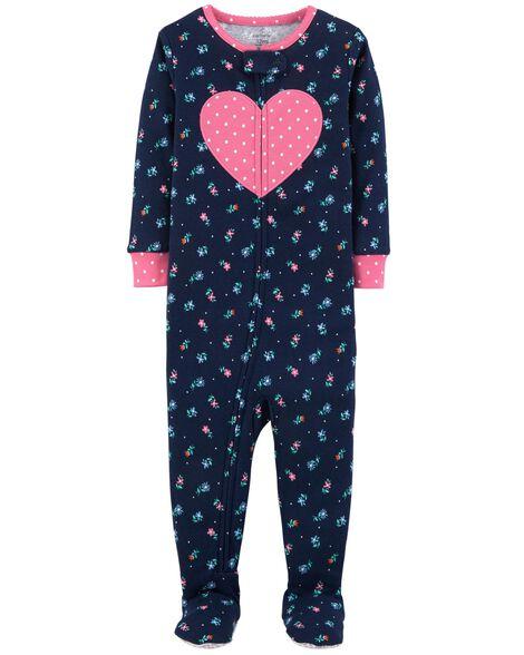 a361c79257df 1-Piece Floral Snug Fit Cotton PJs