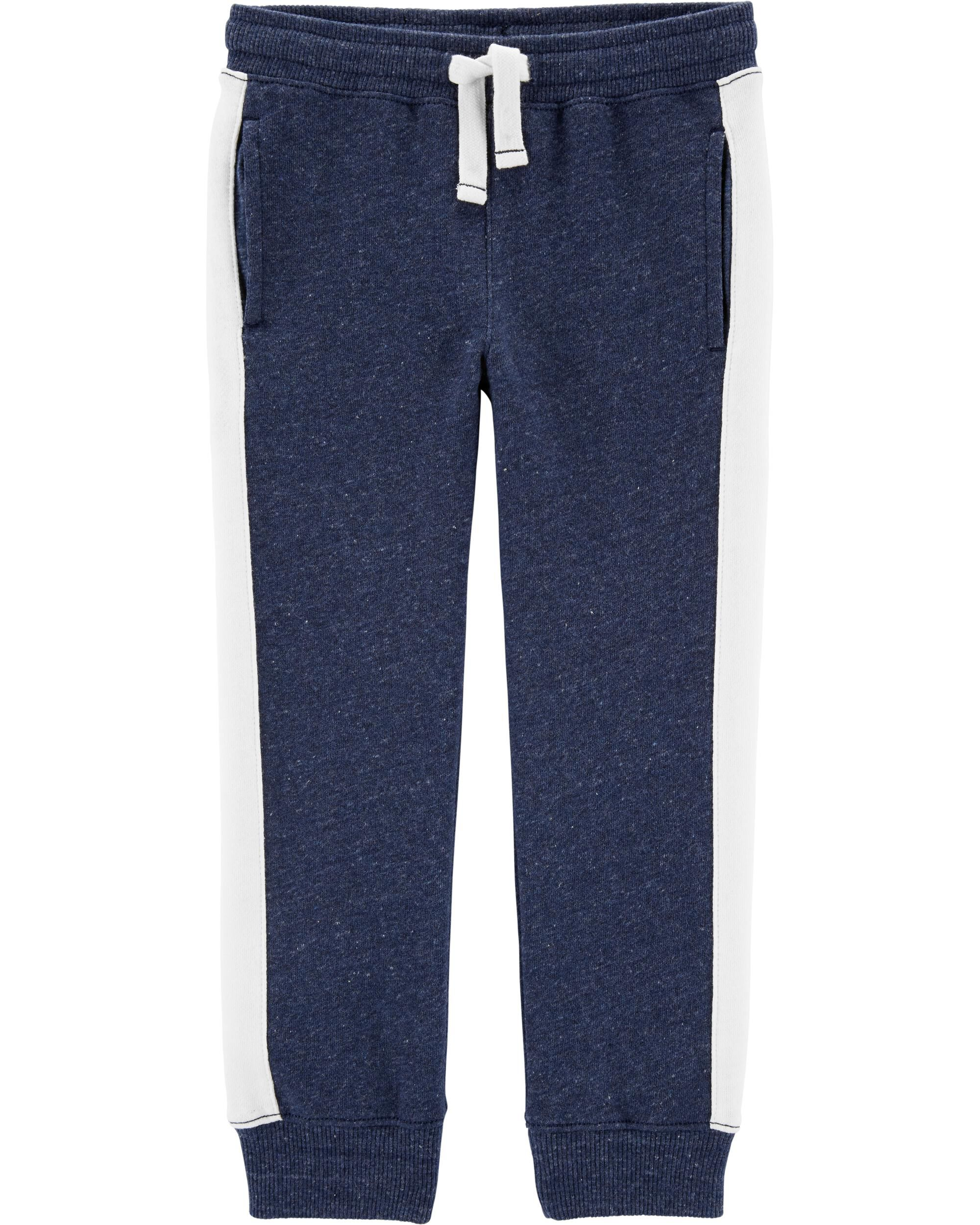 Carters Baby Boys French Terry Pants 12m, Black