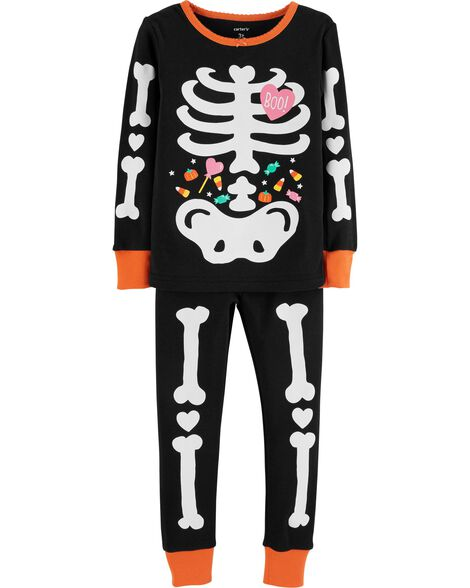 29fffe3834 2-Piece Glow-In-The-Dark Halloween Snug Fit Cotton PJs ...