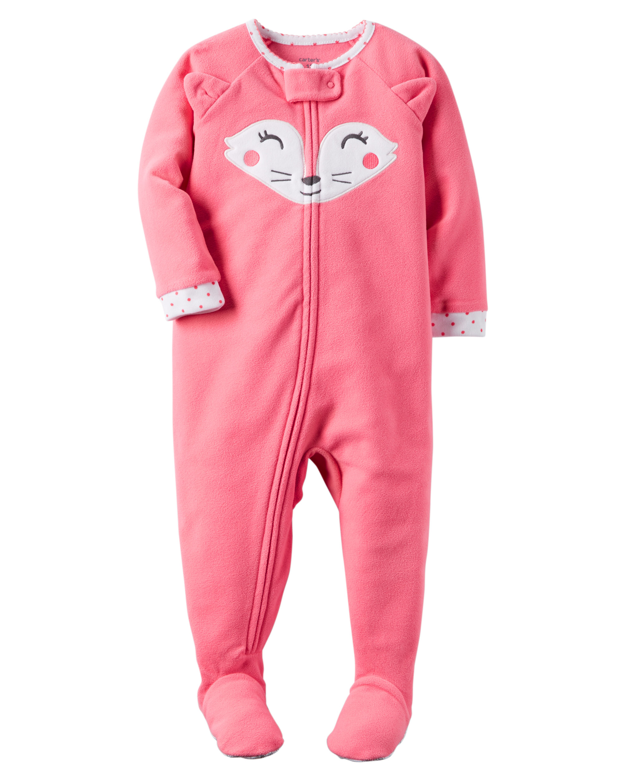 one cotton fit piece footless zoom v baby loading carters girl sleepers snug pjs sleeper