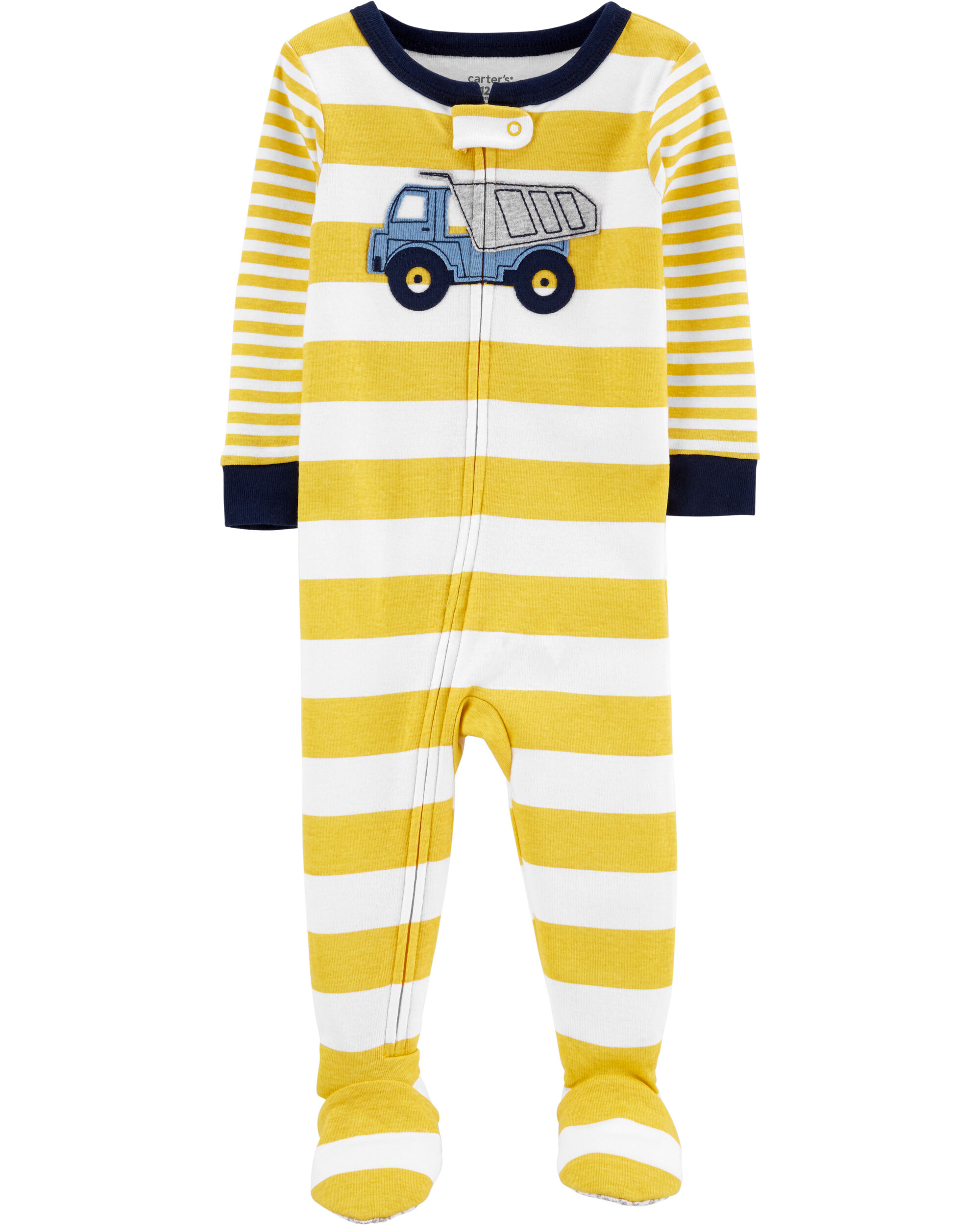 NEW Baby Boys Bodysuit Size Preemie Footed Sleeper Outfit PJs Constuction Trucks
