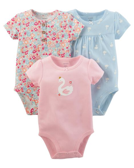 5497b8670 3-Pack Swan Original Bodysuits
