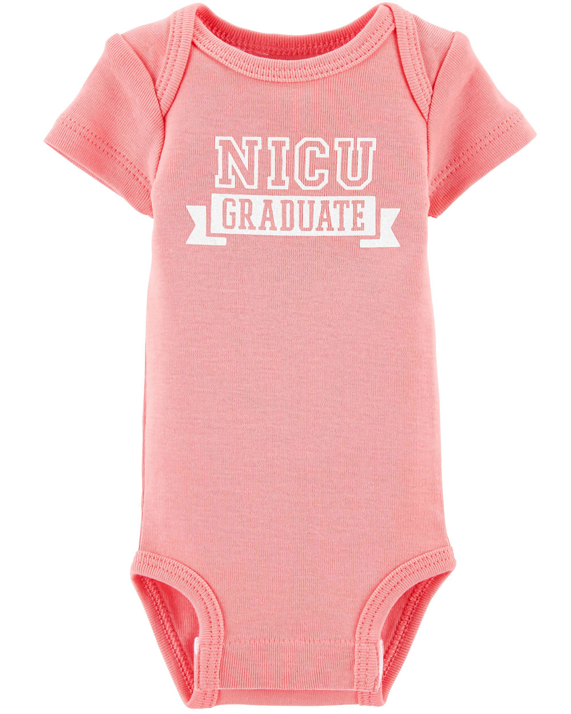 Cute Baby Girl clothes Hospital Premature Baby Graduated From NICU Onesie