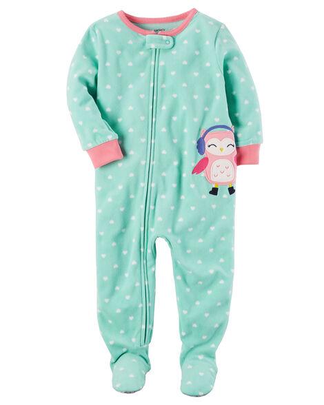 077d40a4607a 1-Piece Owl Fleece PJs