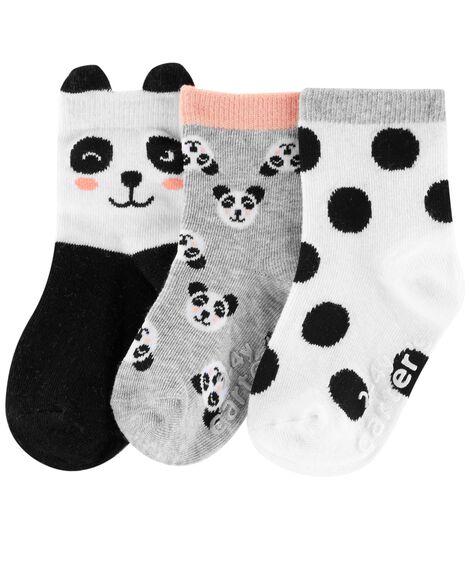 3-Pack Panda Socks