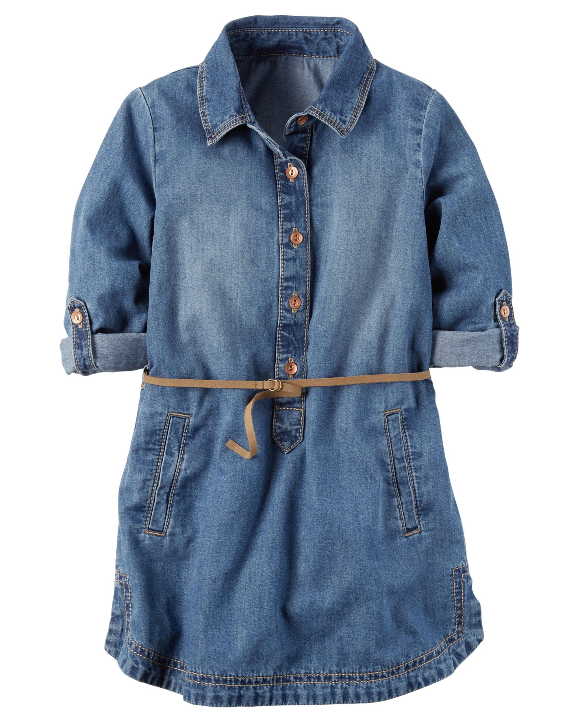 2d398f0296e Denim Shirt Dress