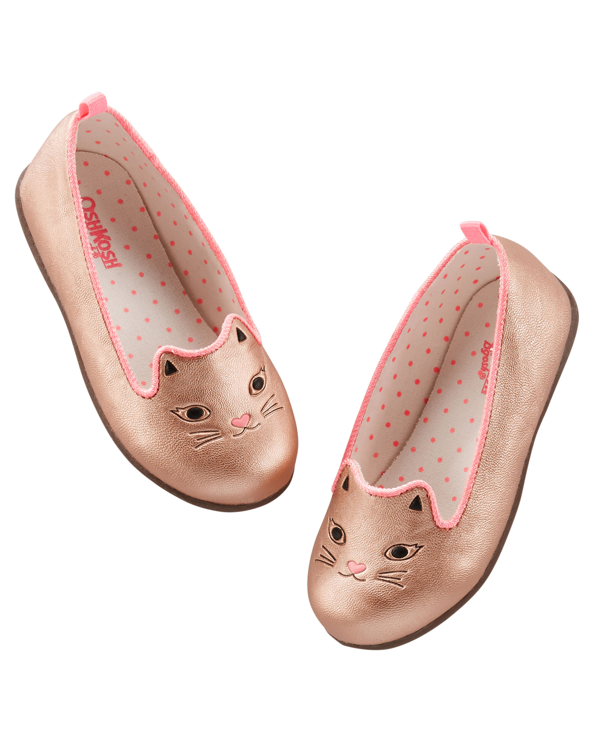 Kid Girl OshKosh Rose Gold Cat Loafers
