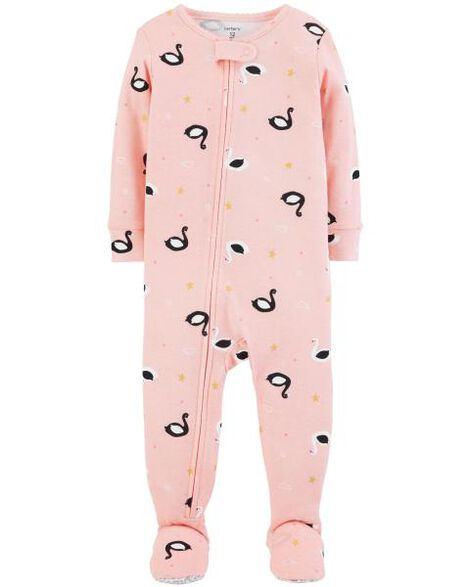 1-Piece Swan Snug Fit Cotton PJs ... ef0499280