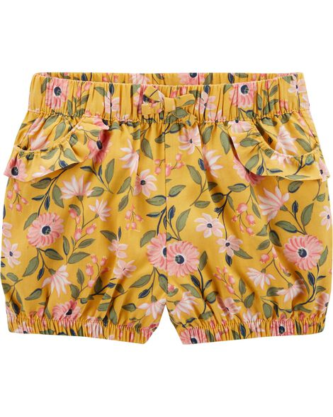 Floral Pull-On Bubble Shorts
