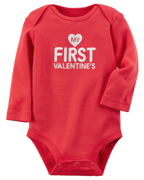 6160acace My First Valentine s Day Collectible Bodysuit