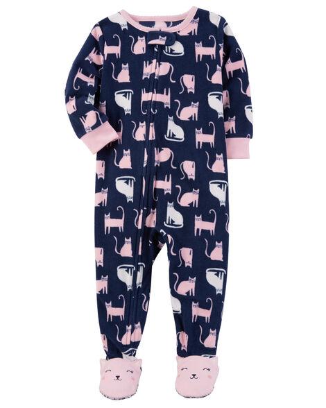 0c7aa2d58733 1-Piece Cat Fleece PJs