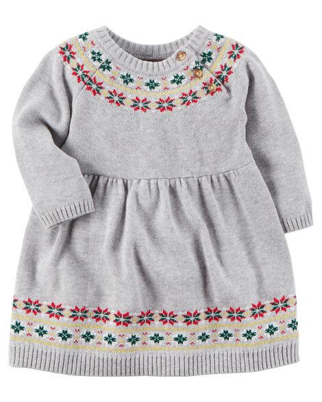 Fair Isle Sweater Dress Carters Com