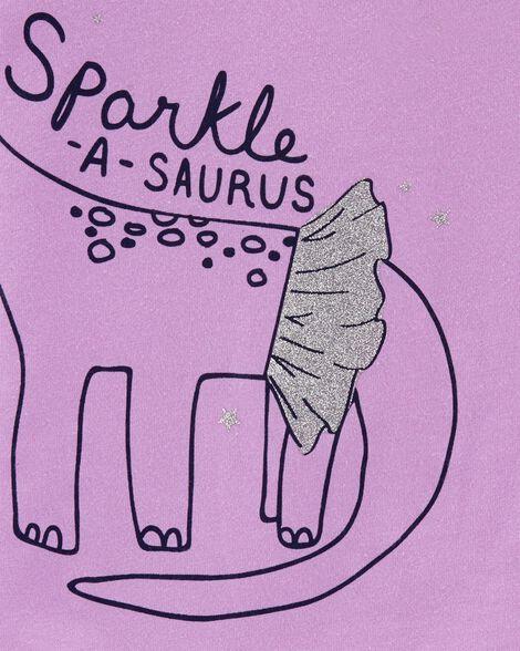 Sparkle Dinosaur Jersey Tee