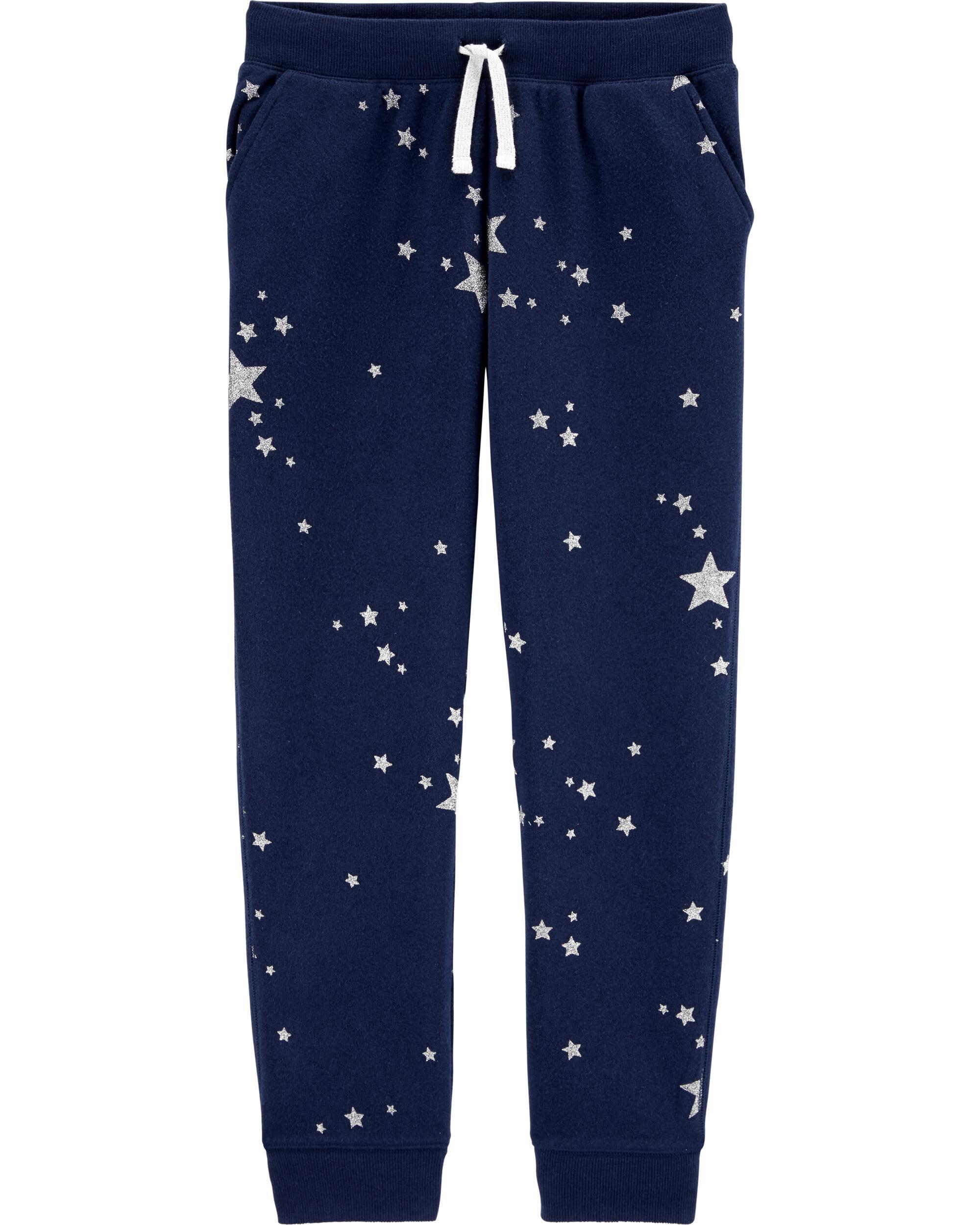 Glitter Star Fleece Logo Pants