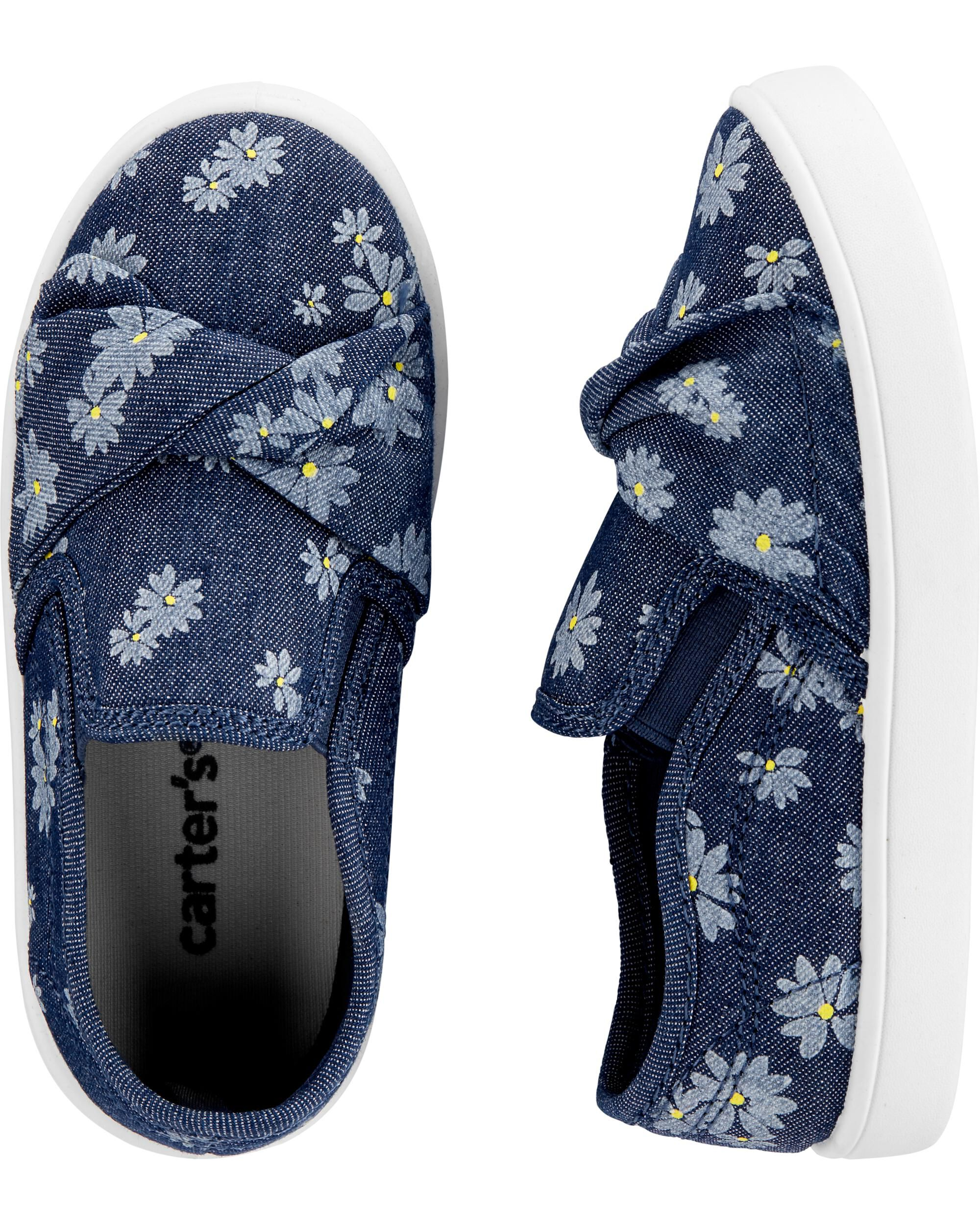 *CLEARANCE* Carter's Floral Chambray Casual Sneakers