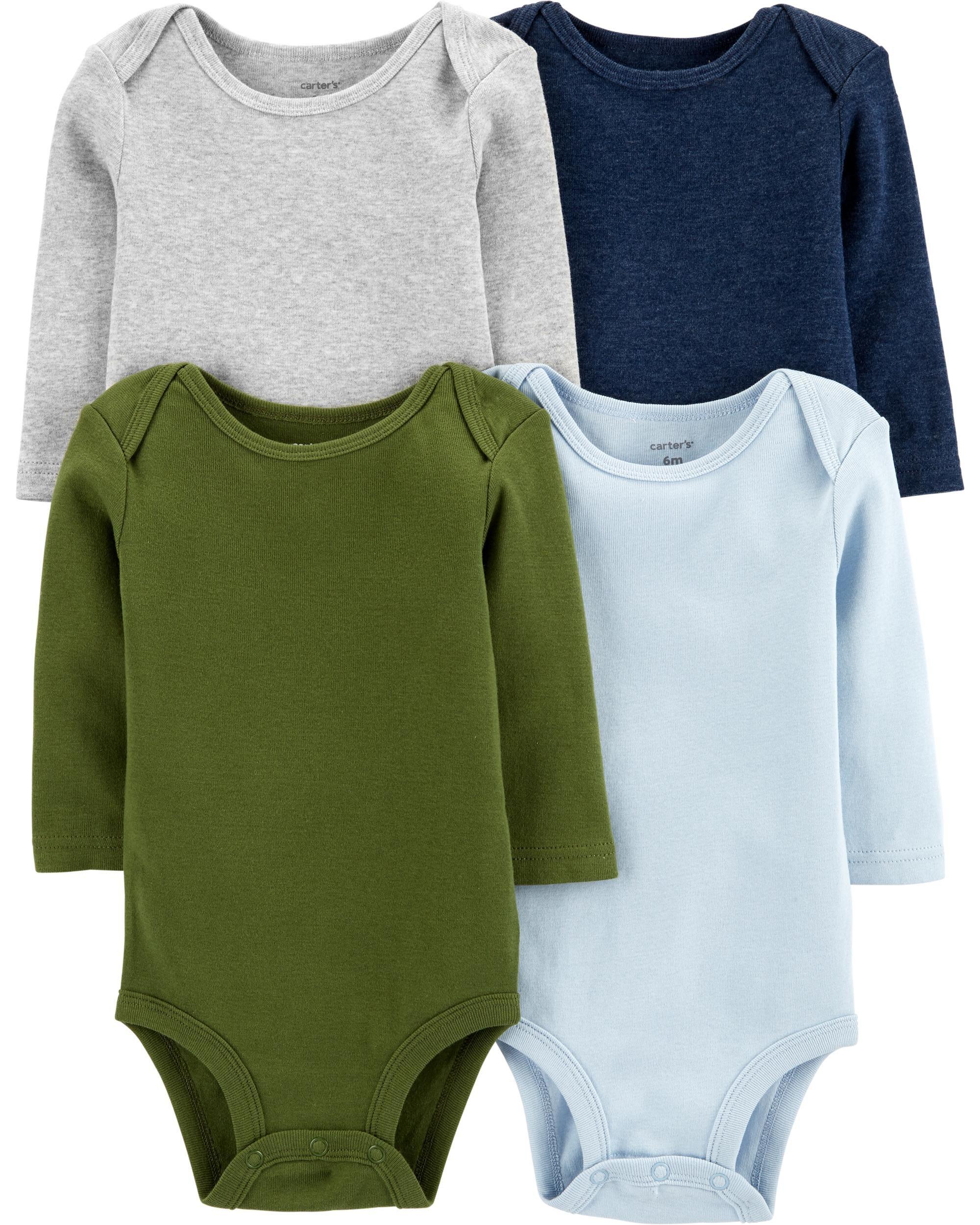 *DOORBUSTER* 4-Pack Long-Sleeve Original Bodysuits