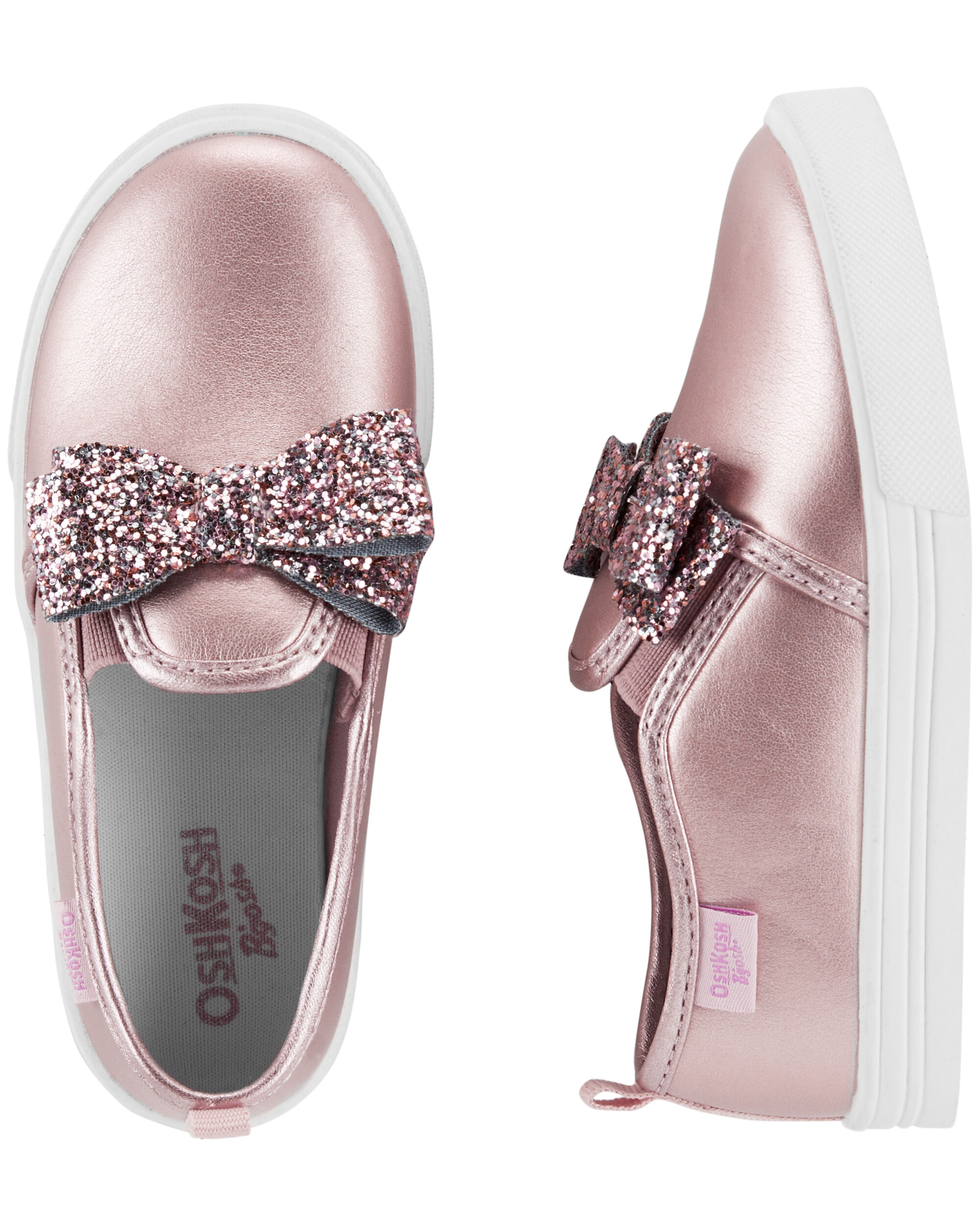 a96efd80129ceb OshKosh Glitter Bow Slip-On Shoes ...