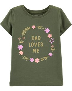 f0af71c44 Short Sleeve Graphic Tees. Glitter Dad Loves Me Jersey Tee