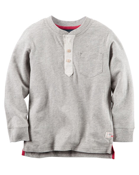 Long-Sleeve Heather Henley