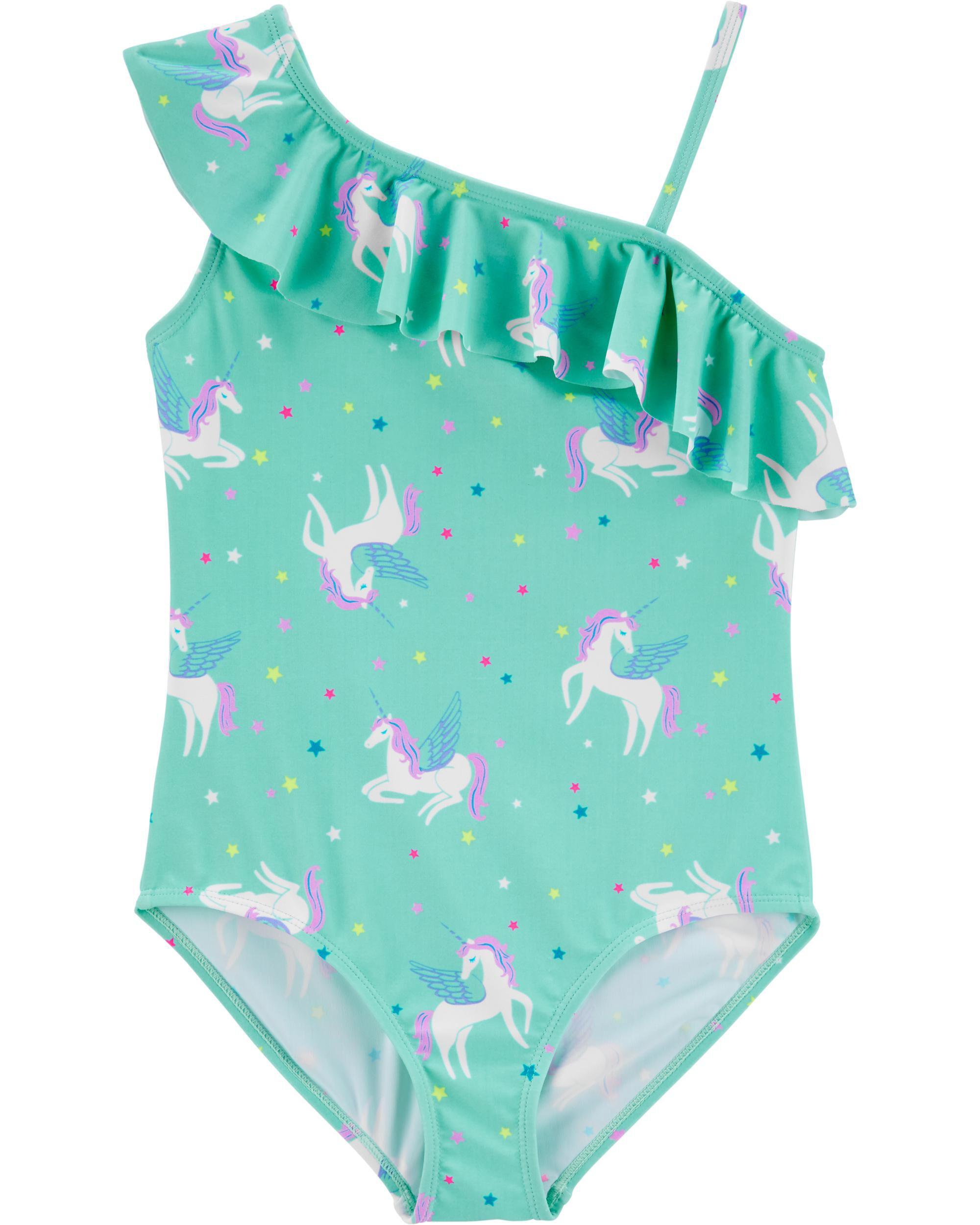 Osh Kosh Baby Girls Multi Print One Piece Swimsuit