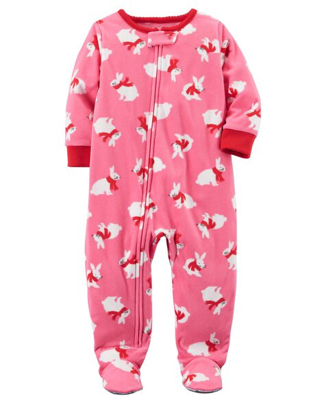 28bb22b44 1-Piece Bunny Fleece PJs